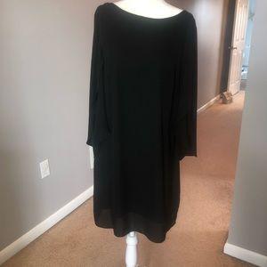 Black silky like dress worn once